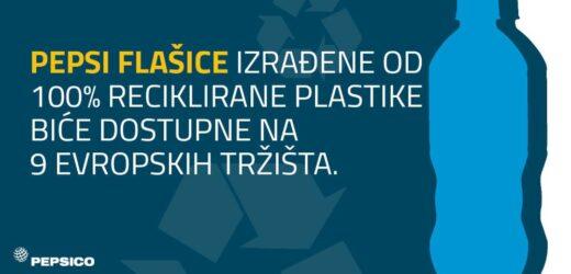 Pepsi flašice izrađene od 100% reciklirane plastike biće dostupne na 9 evropskih tržišta