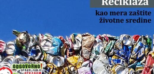 Reciklaža kao mera smanjenja negativnog uticaja deponija na životnu sredinu